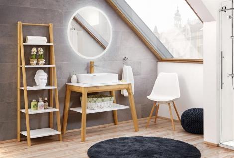 Badmöbel Set 3-tlg Badezimmerset SORBI Eiche massiv + Waschtisch 50cm