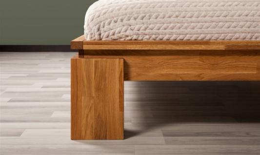 Futonbett Bett Schlafzimmerbet MAISON XL Eiche massiv 140x200 cm - Vorschau 4