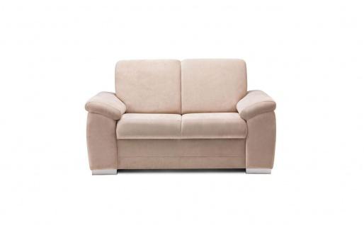 Sofa 2-Sitzer VINZENT Polyesterstoff Sandbeige 150x90x87 cm