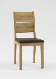 Esszimmerstühle Stuhle 2er Set Massivholz Kernbuche-Braun Geölt - Andy