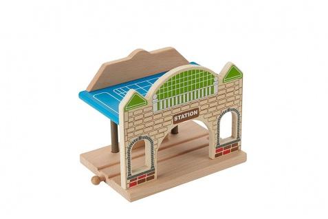 Holzspielzeug - Bahnhof