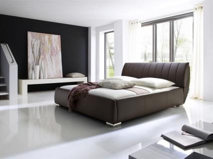 Polsterbett Bett -WIEN - 200x200cm inkl. Bettkasten+Lattenroste Braun - Vorschau 1