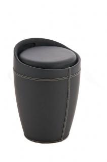 Sitzhocker - Amy - Hocker Sessel Kunstleder Schwarz 30x30 cm