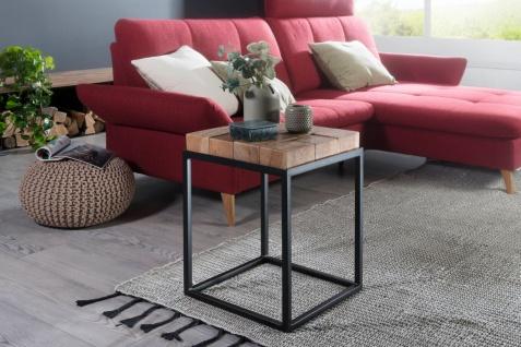 Beistelltisch Tisch BADIN 39x39x56 cm Massivholz Akazie
