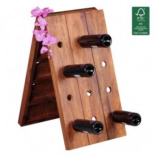 Weinregal Flaschenregal 72 cm für 24 Flaschen Massiv-Holz Sheesham