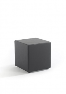 Sitzwürfel Sitzhocker Schminkhocker Hocker Kunstleder Grau 45x42x42 cm