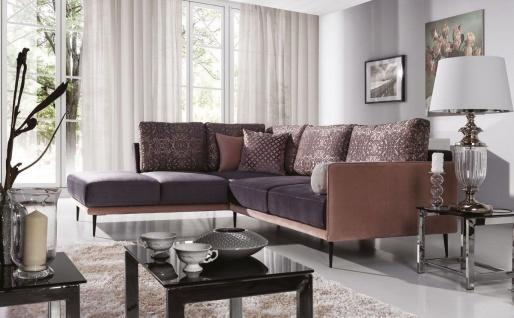 Ecksofa Sofa SISI Pastellviolett / Violett Ottomane Links