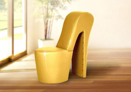 Schuhsessel DESIGNER Sessel - DONNA / Gold - High Heel Sessel