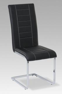 Esszimmerstühle Stühle Freischwinger 4er Set - VELO - Schwarz