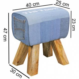 Hocker Sitzhocker Sitzbank POCKET Massivholz 40x30x47cm - Vorschau 1