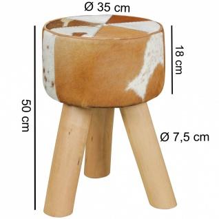 Hocker Sitzhocker COUW Kuhfell braun/weiß rund 35x35x50cm