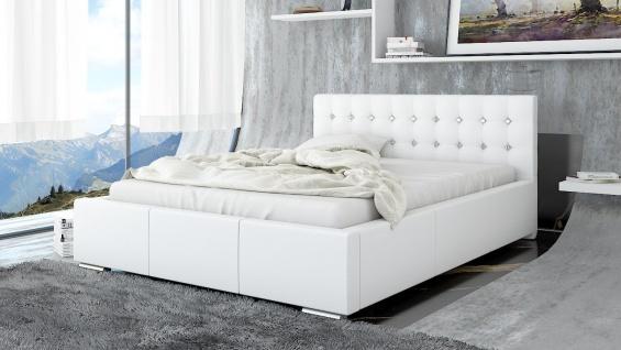 Polsterbett Bett Doppelbett GIANO Deluxe 140x200cm inkl.Bettkasten