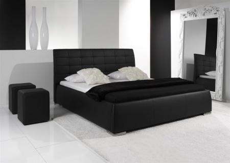 Polsterbett Bett Doppelbett Tagesbett - VERMONT - 180x200 cm Weiss - Vorschau 3