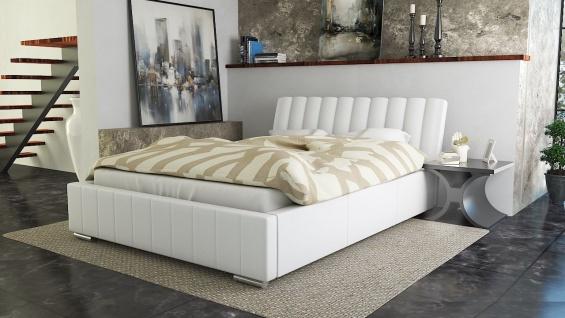 Polsterbett Bett Doppelbett IVANO 200x200cm inkl.Bettkasten