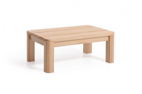 Couchtisch Tisch ANESE Eiche Massivholz 80x80 cm