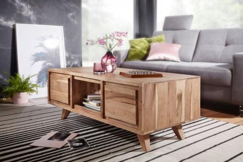 Couchtisch Massivholztisch NIAM 118x60x46 cm Holz Akazie Landhausstil