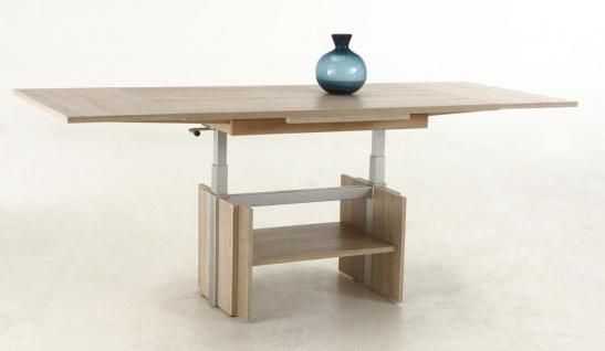 Couchtisch Tisch -Rom- 110- 177 x 68 cm Funktionscouchtisch -Sonoma Eiche - Vorschau 4