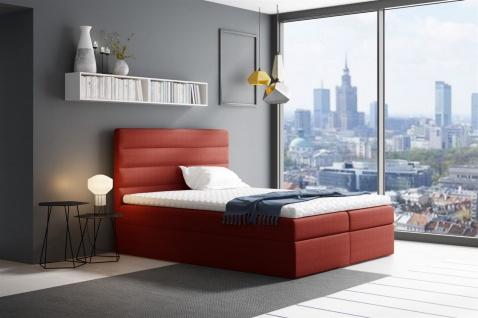 Boxspringbett Schlafzimmerbett LUCA 120x200cm Rot