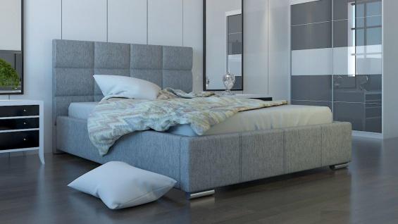 Polsterbett Bett Doppelbett SILVIO XL 200x200cm inkl.Bettkasten