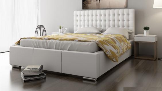 Polsterbett Bett Doppelbett DAMASO XL 200x200cm inkl.Bettkasten