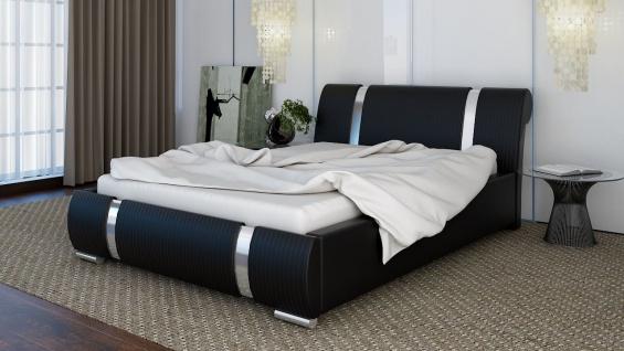 Polsterbett Bett Doppelbett CHLOE XS 180x200cm inkl.Lattenrost