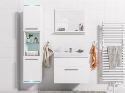 Badmöbel Set 4-Tlg Weiss matt TOPI inkl.Waschtisch inkl.LED