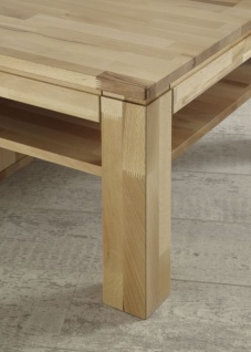Couchtisch Tisch NIELS Wildeiche vollmassiv /Echtholz 110 x 70 cm - Vorschau 2