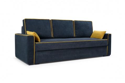 Sofa 3-Sitzer Schlafsofa CARLOTA Stoff Graphitgrau