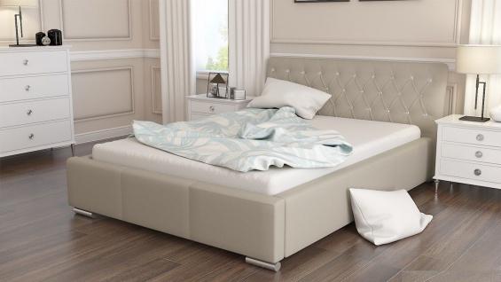 Polsterbett Bett Doppelbett BIAGIO 160x200cm inkl.Lattenrost