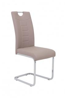 Esszimmerstühle Stuhl Freischwinger 4er Set RUBEN Cappuccino
