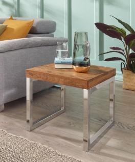 Couchtisch Beistelltisch Tisch NUKA 45x45x40 cm Sheesham Massivholz