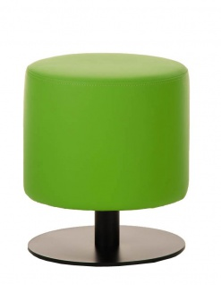 Sitzhocker - Max 2 - Hocker Rundhocker Kunstleder Grün 38x38 cm