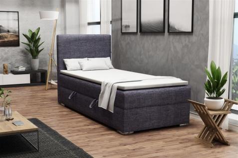 Boxspringbett Schlafzimmerbett DORIAN MINI 100x200cm inkl.Bettkasten