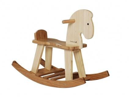 Holzspielzeug - Bambus Schaukelpferd