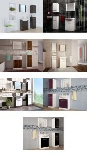 Badmöbel Set 5-Tlg Wenge / Weiss matt PERM inkl.Waschtisch - Vorschau 4
