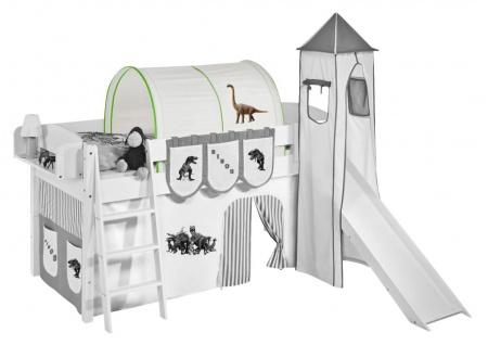 Tunnel Dinos Grün - für Hochbett. Spielbett und Etagenbett
