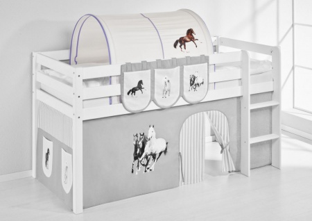 Tunnel Pferde Lila - für Hochbett. Spielbett und Etagenbett