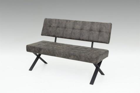 Sitzbank Polsterbank - David S - Kunstleder Vintage Braun 140 x 45 cm