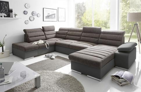 Couchgarnitur PASCARA U-Form mit Schlaffunktion-Schwarz /Otto.. Rechts