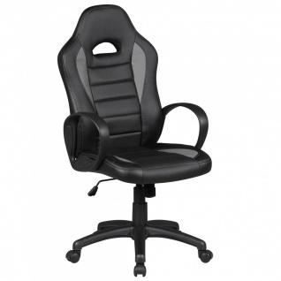 Drehstuhl Bürostuhl Chefsessel FAST - Schwarz / Grau