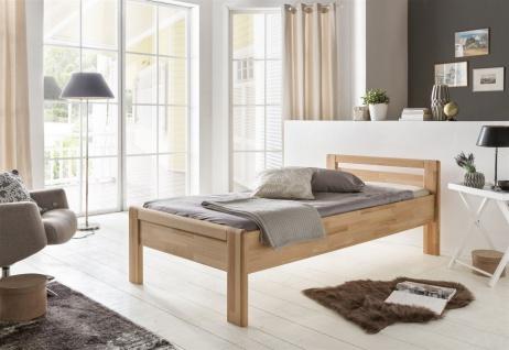 Gästebett Seniorenbett Bett FRANIO Kernbuche Natur geölt 90x200cm
