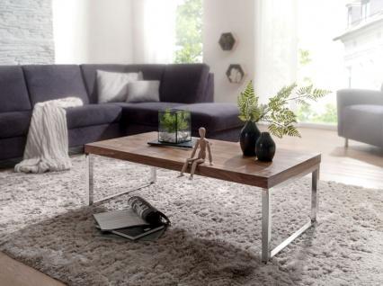 Couchtisch Massivholztisch NUKA 120x60x40 cm Holz Sheesham