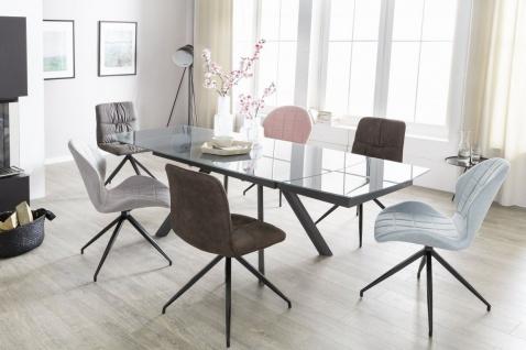 Esstisch Ausziehbar Dunkelgrau Metall /Glas MODEN 160/240x90 cm