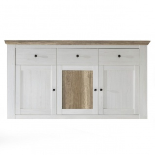 Sideboard Kommode PORTO Anderson Kiefer Weiss / Canyon Eiche
