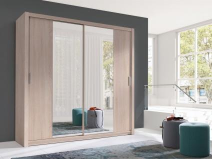 Schiebetürenschrank Schrank VISBY Sonoma matt + Spiegel 200x215 cm