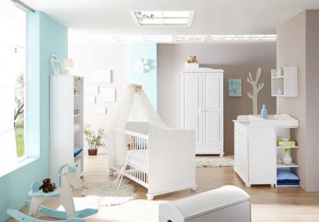 Babyzimmer Set NIKLAS in Kiefer Weiss 5-tlg