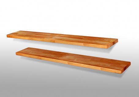 Wandboard - DANI -Nr.08 -/ Hängeboard Kernbuche Massivholz geölt / Länge 120 cm