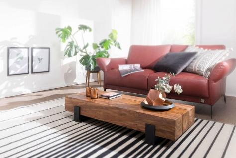 Couchtisch Massivholztisch MANA 115x44x22 cm Holz Sheesham