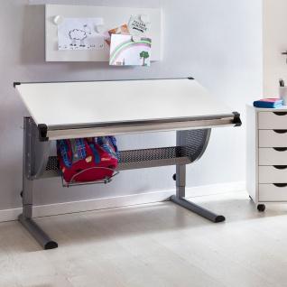 Schreibtisch Kinderschreibtisch MARWIN 120 x 60 cm Grau / Weiss