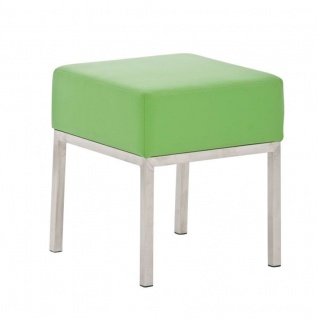 Sitzhocker - LONI 2 - Hocker Sessel Kunstleder Grün 40x40 cm